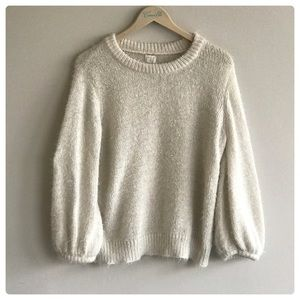AND Furry Cream oversized Sweater
